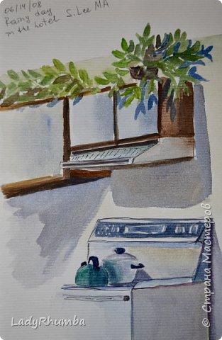 Всем привет!   Вот еще некоторые из моих художеств прошлых лет. Зарисовки из дорожного журнала. Годы с 2005-го по 2011 по-моему.   фото 8