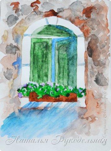 Всем привет. Я сегодня опять с акварельками, на которых учусь и постигаю это искусство - рисование акварелью.   Начну, пожалуй, с предпоследней работы, потому что ее не так стыдно показать ))) Это замок Нойшванштайн, срисовывала с фотографии, пробовала так сказать свои силы. Потому что целый день посвятила себя обучению по книгам, которые мне любезно скинула Маришка Gavroshik (спасибо тебе, дорогая, еще раз) и по которым у меня ну ничего и никак не получалось, за редким исключением. Все мои мучения тоже покажу ))) Ну так вот рисовала я, рисовала и в конце концов, взбесилась. Ну никак не выходит. Решила просто взять какой-нибудь узнаваемый силуэт и нарисовать его двумя цветами. Но потом увлеклась и нарисовался такой вот замок. Лично мне нравится ))) Правда живьем он с более мягкими линиями и переходом цвета. А издалека вообще как фотка )) фото 6