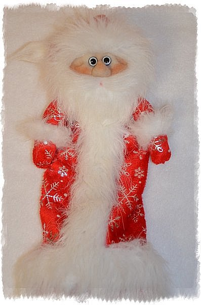 Всем Привет! А я продолжаю Тему Нового года))) И вот Сшились Три Деда мороза на Новогодний Напиток! Вот такие Красавчики))) Это Первый) фото 6