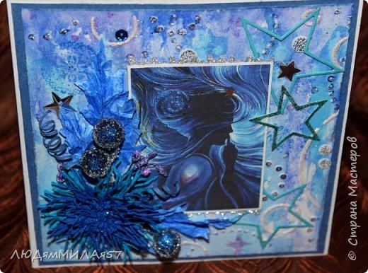 Здравствуйте,дорогие жители СМ!Поздравляю Вас с Днём знаний и желаю всем огромных творческих успехов,ведь все мы вечные ученики в нашей большой и дружной Стране!После синего монохрома у меня засела в голове идея открытки на космическую тему и вот я её воплотила в жизнь как она мне виделась и как я смогла и сумела сделать. фото 5
