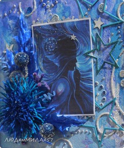 Здравствуйте,дорогие жители СМ!Поздравляю Вас с Днём знаний и желаю всем огромных творческих успехов,ведь все мы вечные ученики в нашей большой и дружной Стране!После синего монохрома у меня засела в голове идея открытки на космическую тему и вот я её воплотила в жизнь как она мне виделась и как я смогла и сумела сделать. фото 14