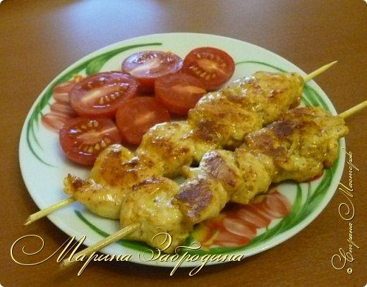 Здравствуйте, сегодня пишу рецепт вкусных куриных шашлычков в паприке на сковороде. Отличная идея для домашнего ужина или обеда. Блюдо очень простое в приготовлении, а результат отличный. Мясо нежное, и вкусное.  фото 9