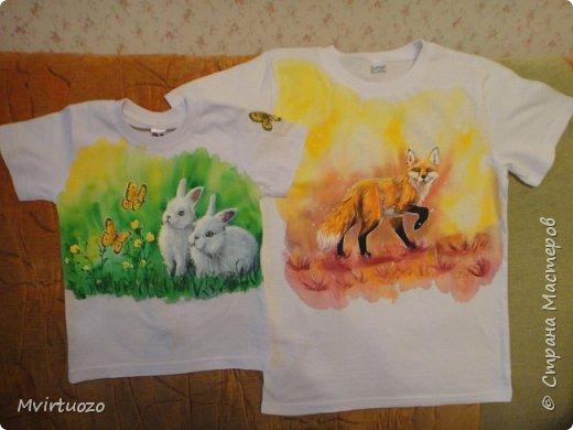 Для моих любимых племяшей нарисовала футболочки фото 1