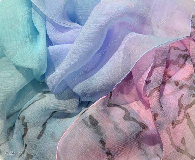 """Здравствуйте, уважаемые обитатели СМ!  Сегодня я со своими """"туманными"""" работами:) А началось всё с этого вот платка.  Когда я его делала, то уже в процессе смешения цветов поняла - получается что-то космическое! И назвала сое творение """"Туманность Андромеды"""" фото 15"""