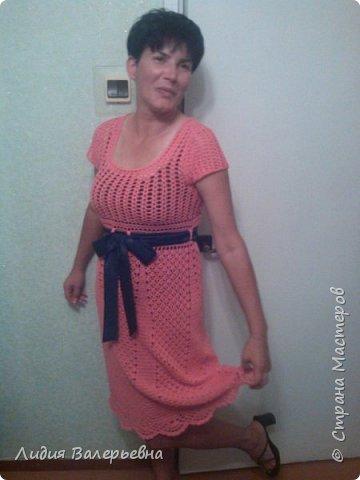 Это платье я связала за 4 дня. фото 1