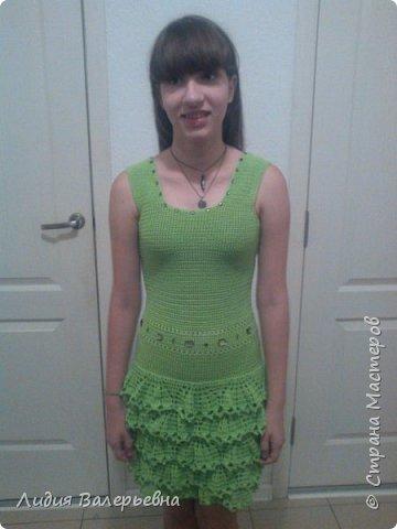 Это платье я связала за 4 дня. фото 2