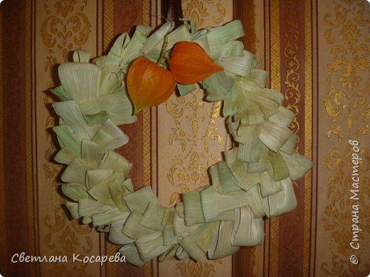 Идея из СМ.В 2012 году делали веночек в садик на праздник осени.Материал-талаш. фото 1