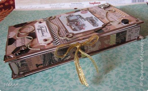 Такую коробочку сделала на заказ. Мужской вариант делала первый раз. Хорошо, когда есть красивая бумага и моя задача ее правильно  использовать. фото 2