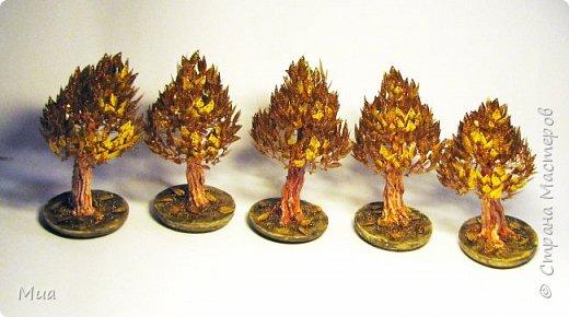 Осенние деревца из пайеток фото 1