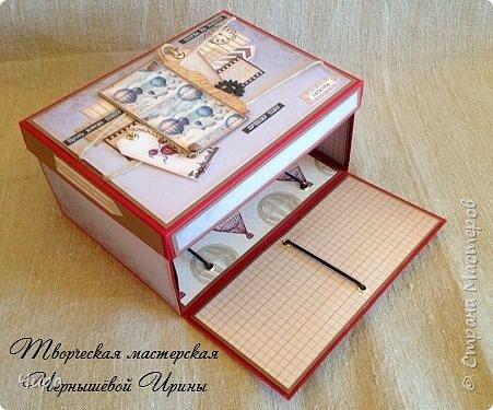 """Доброго времени, уважаемые мастера. Сегодня я с новыми работами-два Magic Box,-волшебные коробочки.Но не простые, а огромные))) Размер 20 х15 х10 см. Внутри тоже не совсем стандартно. В мужском варианте совсем аскетично.Пожелание было такое. Просто резиночки, для крепления различных подарочков. Такой  Мэджик-это вариант подарка для человека, у которого всё есть. Которого не удивишь и не порадуешь деньгами в конверте,бутылкой сп.напитка и т.п. Но такому имениннику можно подарить эмоции и удивление. А все перечисленные банальности идут уже как дополнение... Варианты вложимого могут быть различные, в том чисте : Мини-напиток в центре,мужской шоколад, денежные купюры,сертификат, пачка """"чего-нибудь"""", что и положила заказчица))) Ну вы поняли) Но нельзя исключать и ключи от машины и ювелирные изделия. фото 4"""