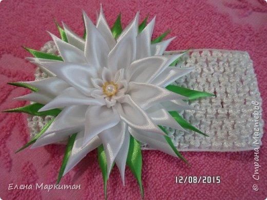 Резинки в стиле канзаши фото 4