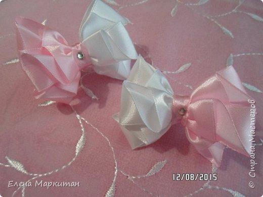 Резинки в стиле канзаши фото 2