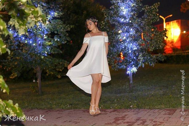 Вот прошел и наш выпускной)))) это платье легкое и необычно простое сшила нам крестная!  фото 15