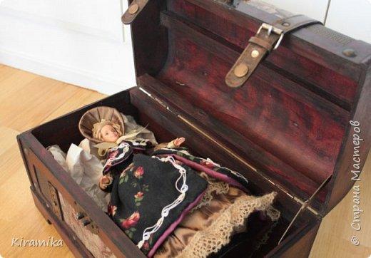 """Кукла-шкатулка """"Путешественница"""" фото 6"""