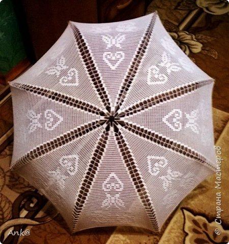 Вязала фрагментами (8 треугольников в филейной технике), потом сшивала. фото 1