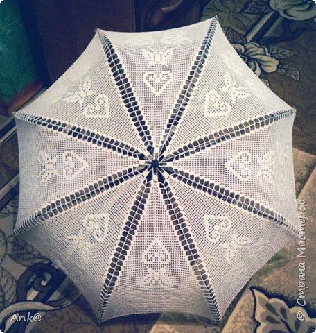 Вязала фрагментами (8 треугольников в филейной технике), потом сшивала. фото 2