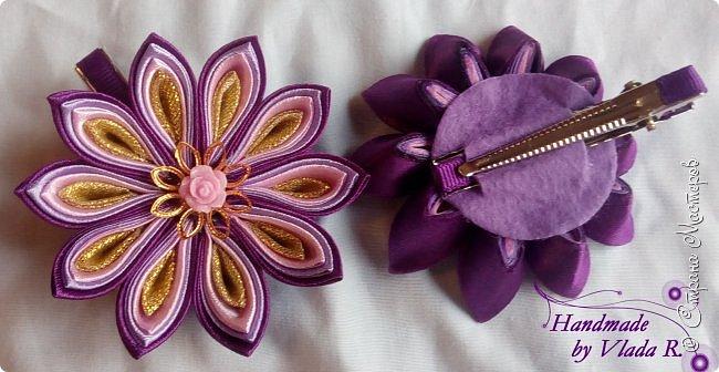 Привет)  Сегодня делюсь очередными работами, надеюсь не заскучаете) Начнем с ажурной повязки с декором из репса) фото 6