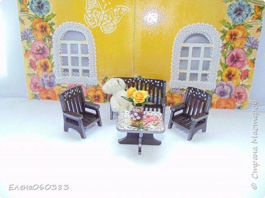 Кукольная мебель для игрушек высотой 8-10 см фото 5