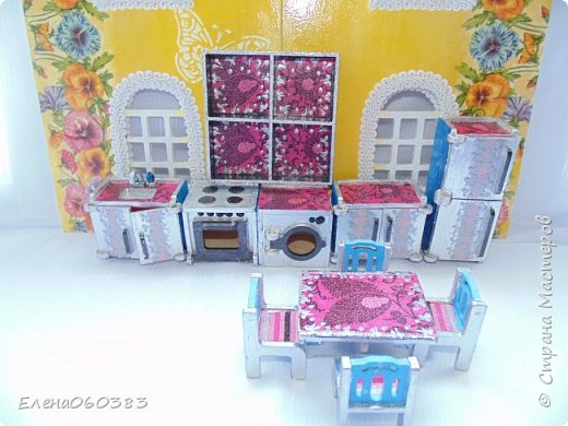 Кукольная мебель для игрушек высотой 8-10 см фото 15