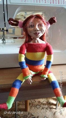Моя первая куколка  . Сделана в смешанной  технике. фото 3