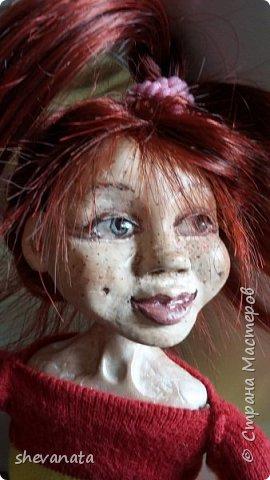 Моя первая куколка  . Сделана в смешанной  технике. фото 1