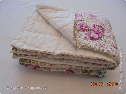 """Лёгкое одеяло """"Розовая поляна"""". фото 1"""