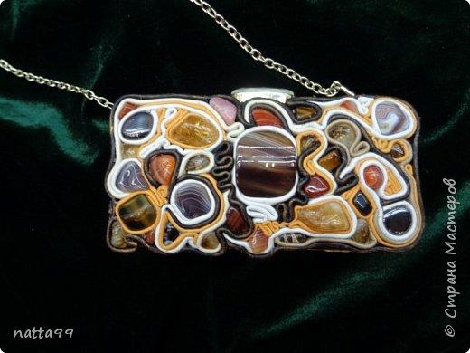 камни-агат,цитрин,тигровый глаз,сердолик.Кожа натуральная фото 1