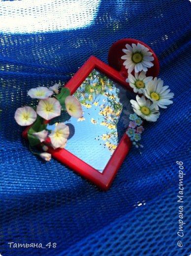 Привет всем!!!! Выставляю на ваш суд мое произведение в виде декора рамки...  Подарок для подруги....Вот устроила на даче фотосессию. Первая фото удачная получилась... с лучами солнышка... фото 3