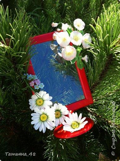 Привет всем!!!! Выставляю на ваш суд мое произведение в виде декора рамки...  Подарок для подруги....Вот устроила на даче фотосессию. Первая фото удачная получилась... с лучами солнышка... фото 11
