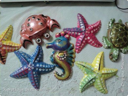 Приветствую всех мастеров Страны мастеров! Вот таких обитателей морей сделала для детского садика. Формочки пластиковые от песочниц. Отливки из гипса. Расписаны акрилом и покрыты акриловым лаком. фото 10