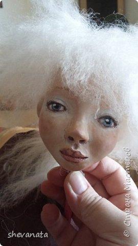 Это уже готовая голова к новой куколке.Сделана в  технике МАШЕРИ. фото 3