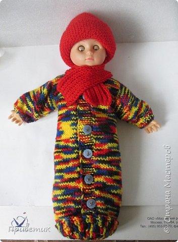 Лето закончилось :( пора утепляться. Внучкиной кукле связала такой осенний комплект. фото 16