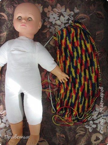 Лето закончилось :( пора утепляться. Внучкиной кукле связала такой осенний комплект. фото 3