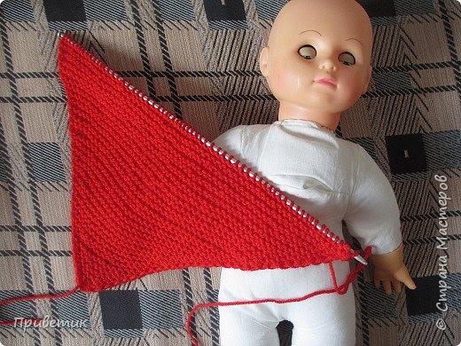 Лето закончилось :( пора утепляться. Внучкиной кукле связала такой осенний комплект. фото 7