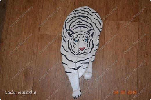 Тигр. Интарсия.