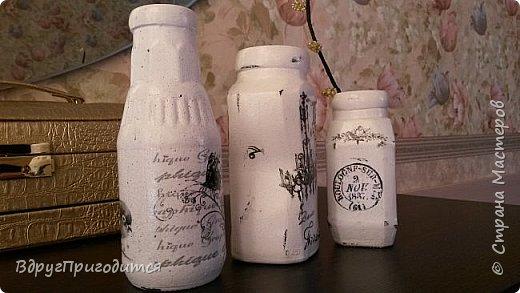 Здравствуйте, соседи! Хочу показать вам свои вазочки-баночки-бутылочки и еще немного всякой всячины. Готовила их, по традиции, на благотворительную ярмарку - для веточек вербы. Не все любят большие букеты, вот для малюсек такие емкости вполне удобны. фото 5