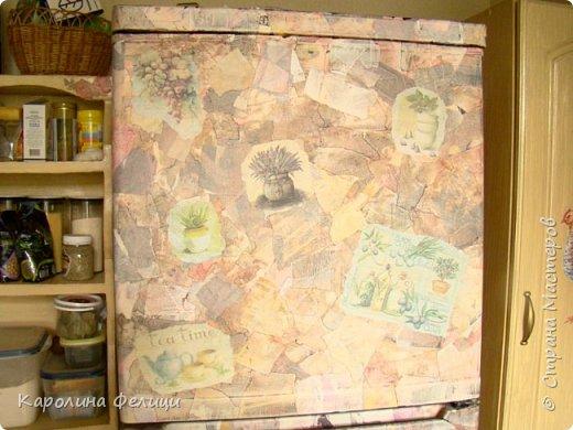 Декорируем холодильник под природный камень