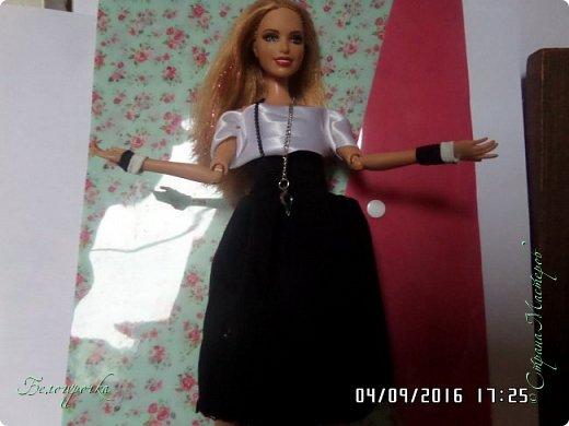 """привет!сегодня я сдаю работу на конкурс """"Мисс Кукольная Жизнь"""" http://stranamasterov.ru/node/1046432 И  меня черно-белый костюм: фото 3"""