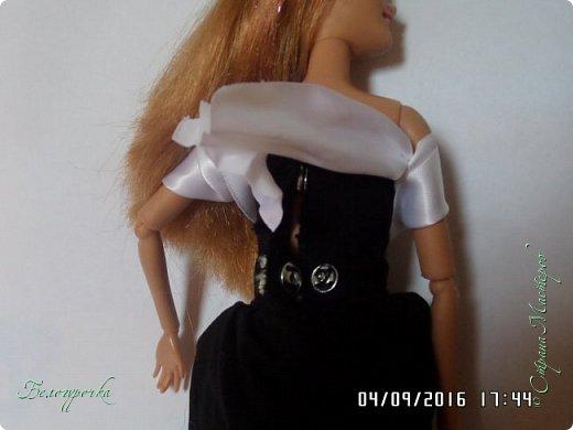"""привет!сегодня я сдаю работу на конкурс """"Мисс Кукольная Жизнь"""" http://stranamasterov.ru/node/1046432 И  меня черно-белый костюм: фото 19"""