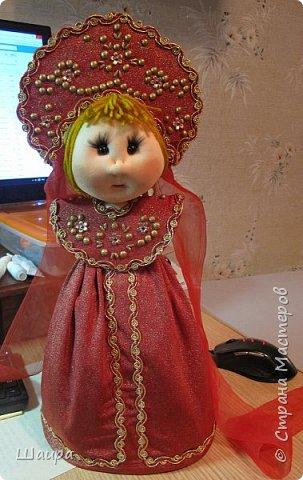 Кукла 45 см с кокошником. Самостоятельно стоит. Ручки, ножки двигаются. фото 13
