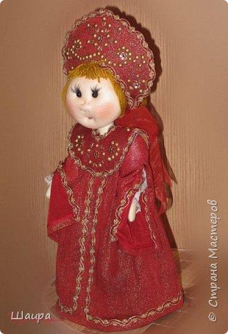 Кукла 45 см с кокошником. Самостоятельно стоит. Ручки, ножки двигаются. фото 14
