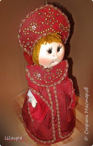 Кукла 45 см с кокошником. Самостоятельно стоит. Ручки, ножки двигаются. фото 15