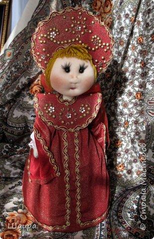 Кукла 45 см с кокошником. Самостоятельно стоит. Ручки, ножки двигаются. фото 16