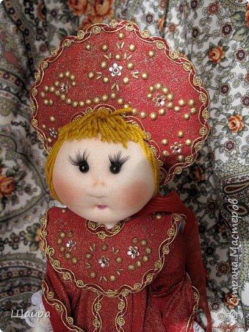 Кукла 45 см с кокошником. Самостоятельно стоит. Ручки, ножки двигаются. фото 18
