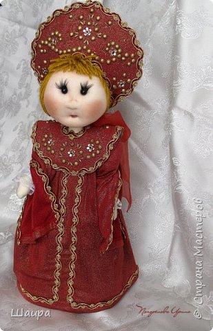 Кукла 45 см с кокошником. Самостоятельно стоит. Ручки, ножки двигаются. фото 17