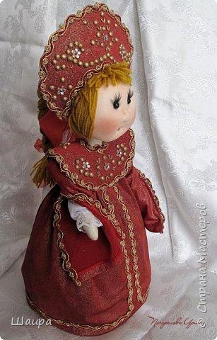 Кукла 45 см с кокошником. Самостоятельно стоит. Ручки, ножки двигаются. фото 1