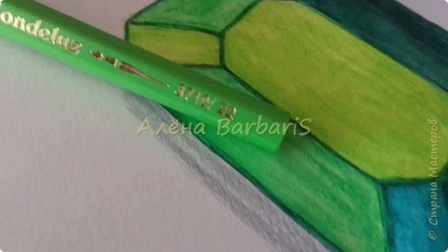 Доброго времени суток!)  Сегодня покажу вам как можно нарисовать объемные камушки. Данный мастер-класс я увидела в инстаграмме, совершенно не запомнив у кого (( решила попробовать, затем конечно показать вам :) В общем нам понадобится бумага, акварельные цветные карандаши, кисточка, вода.  фото 31