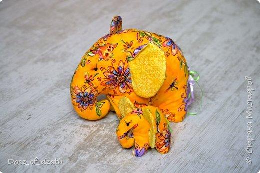 Прислали мне из Тулы, наборы для изготовления текстильных игрушек. Изготовить нужно было ко Дню Рождения мамы, т.к. она любит слоников. фото 3
