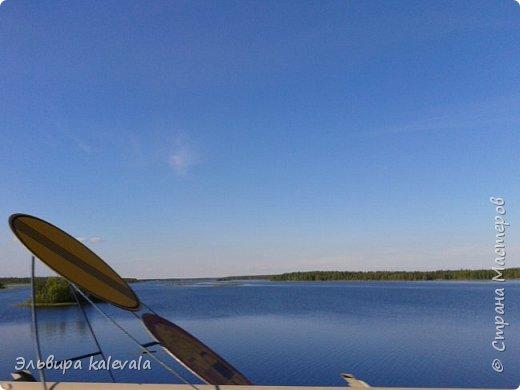 Небо, небо, синее небо летом в Карелии. фото 2