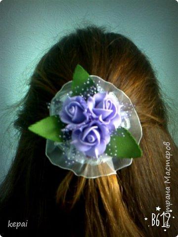 Заколка, роза из фоамирана. фото 4